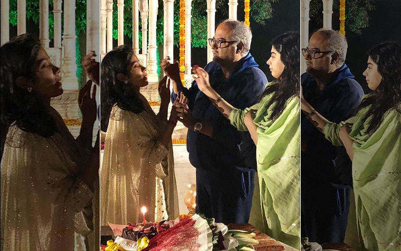 Janhvi Kapoor Turns 22, Celebrates Birthday By Cutting Cake With Boney Kapoor And Khushi