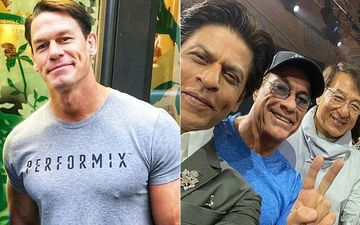 John Cena Shares A Selfie Of Shah Rukh Khan, Jean-Claude Van Damme And Jackie Chan; Fans Call Them 'Legends'