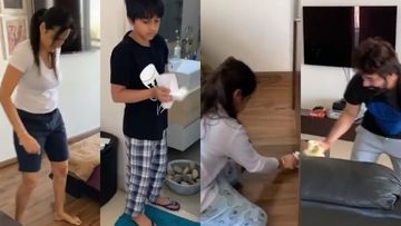 Coronavirus Lockdown: Kamya Panjabi Goes On A House-Cleaning Spree With Hubby And Kids, 'Apni Zimmedaari Khud Uthao' – VIDEO