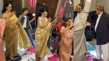 Kangana Ranaut And Sister Rangoli, Along With Their Grandpa, Perform The Pahadi Group Dance Form Natti – VIDEO