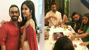 Katrina Kaif And Vicky Kaushal Jointly Attend A Diwali Bash, Send Rumour Mills Into A Tizzy; Pictures Inside