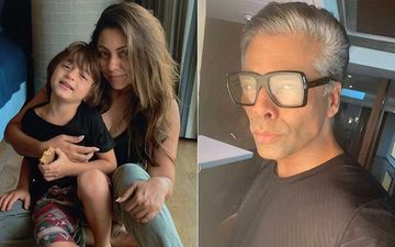 Karan Johar Hosts A Kids' Party At His Residence; Shah Rukh Khan's Wife Gauri Khan And Son AbRam SPOTTED Arriving In Style