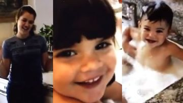 Khloe Bathing Kylie Jenner In A Kitchen Sink As Little Kendall Helps Is Absolutely Adorbs – THROWBACK VIDEO