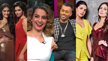 Deepika Padukone, Kangana Ranaut, Sonam Kapoor, Hardik Pandya, Kareena Kapoor Khan: Stars That Brewed CONTROVERSIES On Koffee With Karan Couch