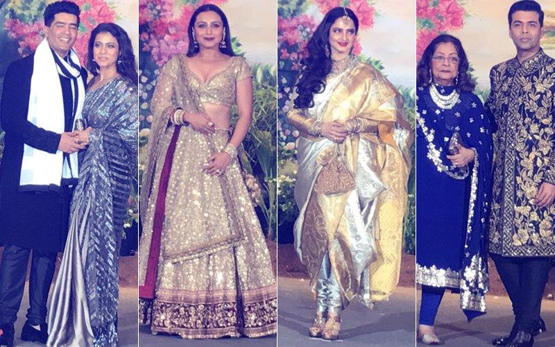 Sonam Kapoor Reception: Kajol, Rani, Rekha & KJo Enter
