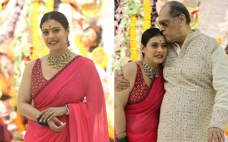 Kajol Breaks Into Tears As She Hugs Her Uncles At A Durga Puja Pandal-Watch Video