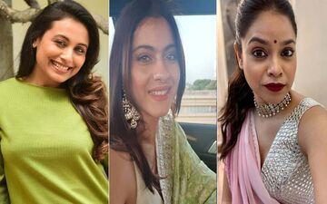 Durga Puja 2021: Rani Mukerji Stuns In A Yellow Saree; Kajol, Sumona Chakravarti, And Others Arrive At A Mumbai Pandal To Seek The Goddess' Blessing
