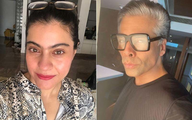 Kajol Shares A Hilarious Clip Of Her Falling Down Right On Her Face While Shooting For 'Yeh Ladka Hai Deewana'; Karan Johar's Reaction Takes The Cake