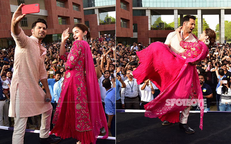 Kalank Pair Alia Bhatt-Varun Dhawan Enthrall College Students At A Jaipur University