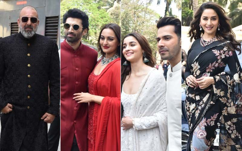 "Kalank Teaser Launch: Sanjay Dutt Calls Madhuri Dixit ""Ma'am"" As Ex-Lovers Share Stage After Decades"