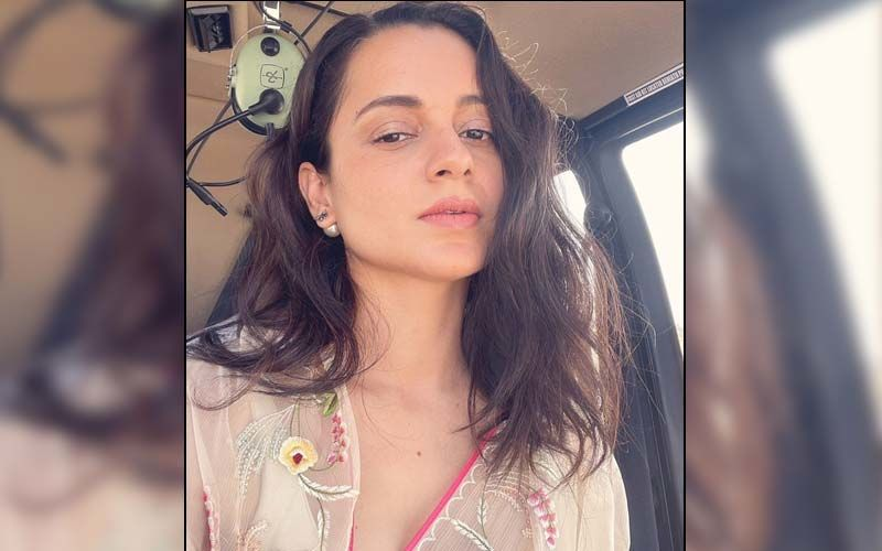 Kangana Ranaut Gets Us Curious As She Stuns In A Saree To Meet Her Most Special Person In Udaipur; See Pic