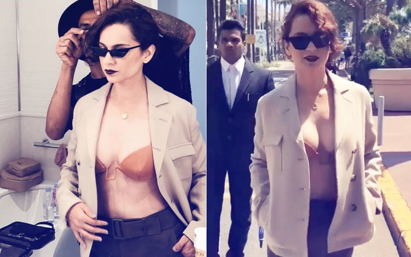 Cannes 2018: Kangana Ranaut Wows In A Sexy Outfit On Day 2