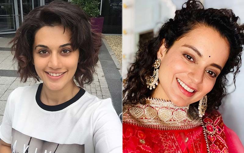 Filmfare Awards 2021: Taapsee Pannu Thanks Kangana Ranaut Along With Deepika And Janhvi As She Wins 'Best Actor' Award; Here's What Kangana Said - WATCH