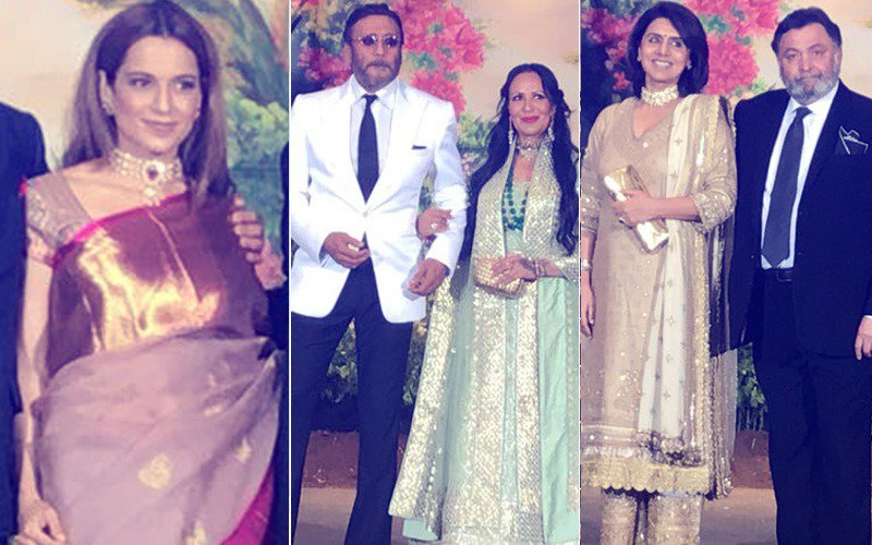 Sonam Kapoor Reception: Kangana Ranaut, Jackie Shroff, Rishi-Neetu Kapoor Come In