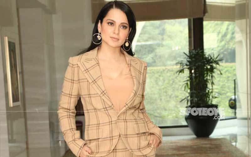 Kangana Ranaut Gives A Peek Into Her 'Dhaakad' Level Fitness; Flaunts Her Toned Body In Nude Athleisure Wear