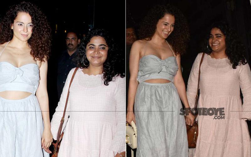 Kangana Ranaut Is Dressed To Impress As She Steps Out Holding Hands With Panga Director Ashwini Iyer Tiwari Post Dinner