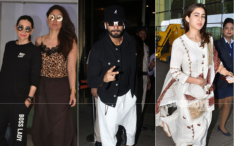 Celeb Spottings: Kapoor Sisters Keep It Casual, Ranveer Singh Is In His Funky Best, Sara Ali Khan Goes Ethnic Again