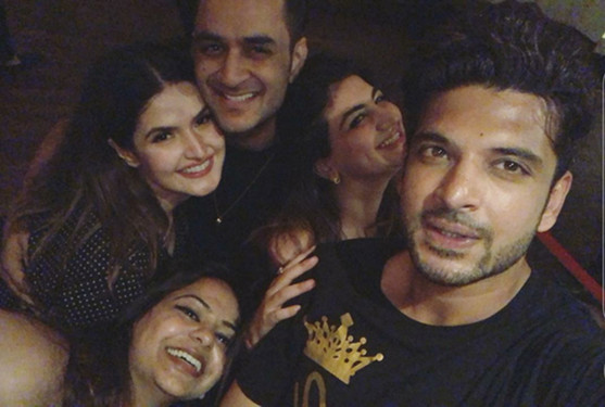 Karan Kundra With Vikas Gupta And Zareen Khan