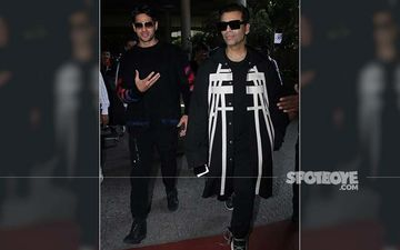 Karan Johar-Sidharth Malhotra Cast 'Black' Magic At The Airport, Duo Looks Effortlessly Cool!