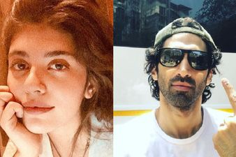 OM - The Battle Within: Aditya Roy Kapur And Sanjana Sanghi Clicked While Shooting In Mumbai - PICS INSIDE