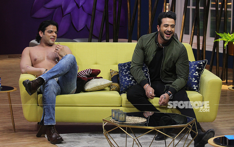 Karan Patel And Aly Goni On The Sets Of JuzzBaatt