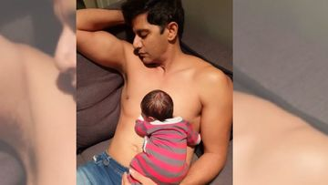 Karanvir Bohra Shares An Endearing Picture With His Newborn Daughter; Says He Is One Of Those Dads Who Loves To Spoil His Kid