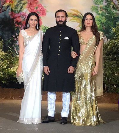 Kareena Kapoor With Saif Ali Khan And Karishma Kapoor