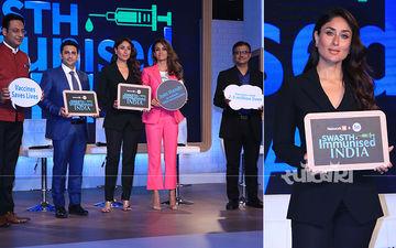 Swasth Immunised India Campaign को लॉन्च करने पहुंची करीना कपूर खान, देखिए तस्वीरें