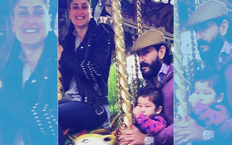 Taimur, Saif & Kareena On The Merry-Go-Round In London, View Pic