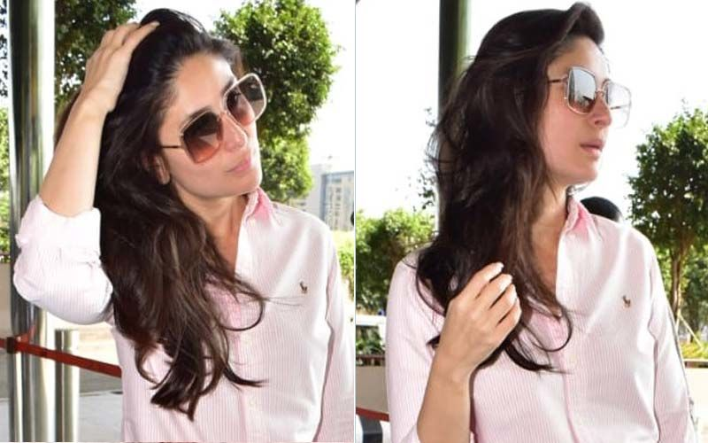 Kareena Kapoor Khan Spotted Leaving Mumbai In The Most Perfect Flared Jeans