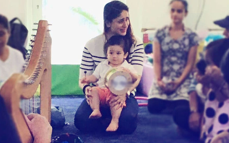 Taimur Takes Music Lessons Sitting In Mommy Kareena's Lap