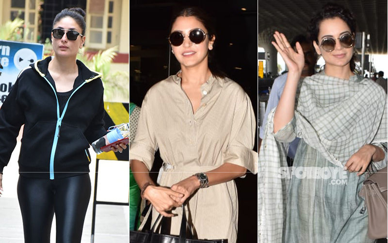 Celeb Spottings: Kareena Kapoor Heads To The Gym, Anushka Sharma Returns To The City, Kangana Ranaut Dons An Ethnic Look Again