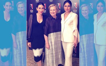 Pic: Kareena & Karisma Kapoor's Night Out With Hillary Clinton