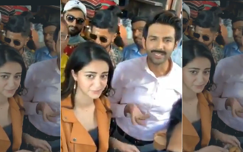 Ananya Panday Breaks Her Diet Routine To Hog On Kachoris And Chai In Lucknow, Kartik Aaryan Gives Her Company: Watch