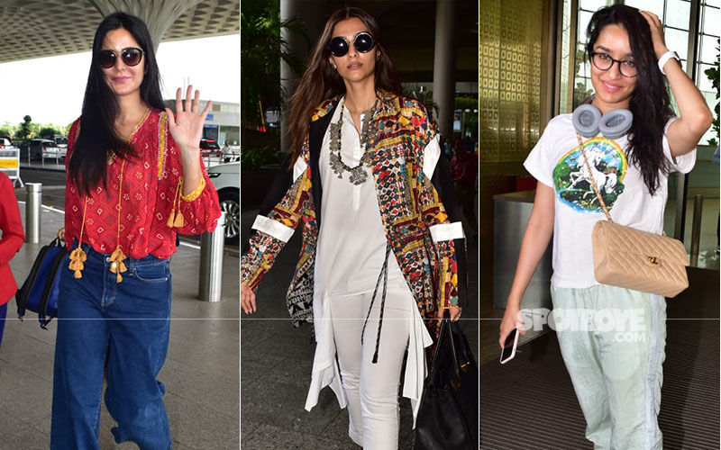 Katrina Kaif's Baggy Jeans, Sonam Kapoor's Ethnic Outfit Or Shraddha's Nerdy Game- Which Airport Look Is Your Favourite?