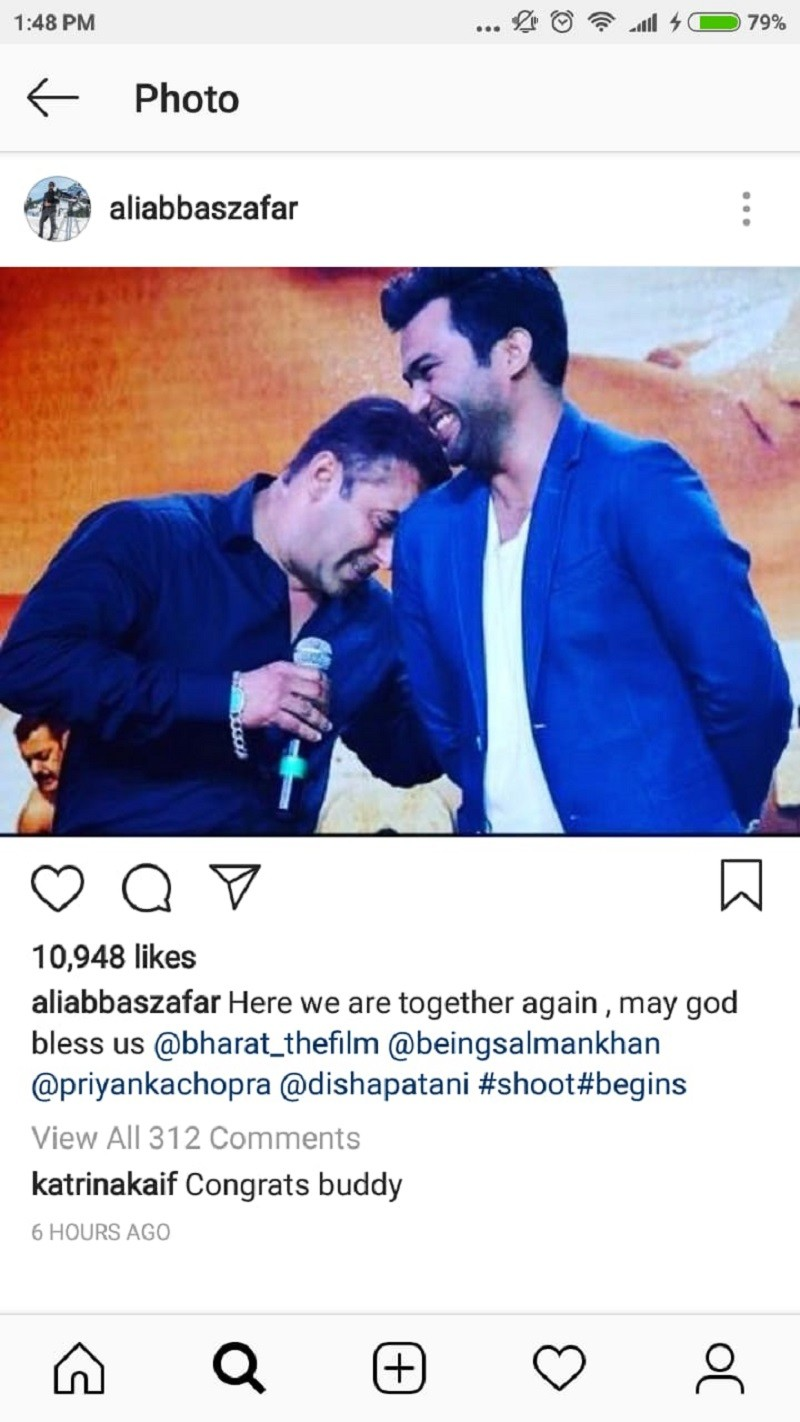 Katrina Wishes Salman