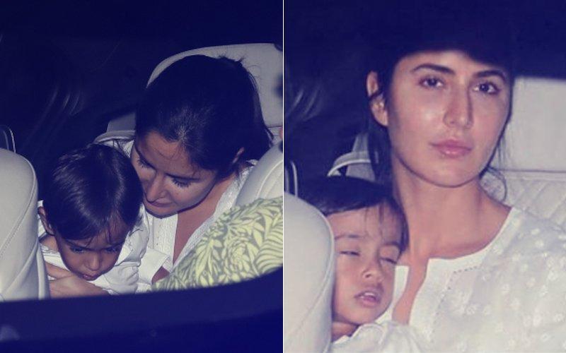 PICS: Katrina Kaif Takes Salman Khan's Nephew Ahil For A Spin In Her Car