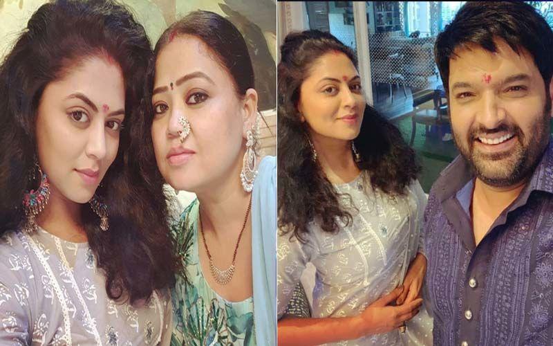 Kavita Kaushik Welcomes Ganpati Bappa Home After 5 Years; Actress Poses For Photos With Kapil Sharma, Ginni Chatrath And Bharti Singh