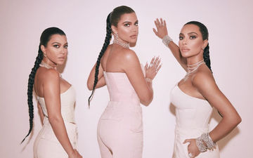 Kim Kardashian Shares A Throwback Childhood Pic With Sister Khloe And Kourtney; Triplets Are The Cutest