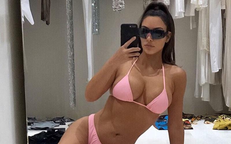 Kim Kardashian Wears A Bikini While Browsing Through Wardrobe, Fan Says, 'Your Closet's Bigger Than My House'