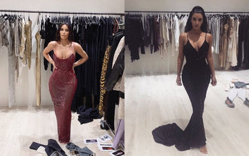 Kim Kardashian Can't Fit In Her Versace Post Weight Gain; Some Old Dresses She Might Have To Discard - PICS