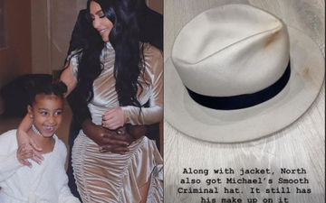 Kim Kardashian Shares A Pic Of Michael Jackson's Smooth Criminal Hat She Bought; Spot King Of Pop's Make up On It?