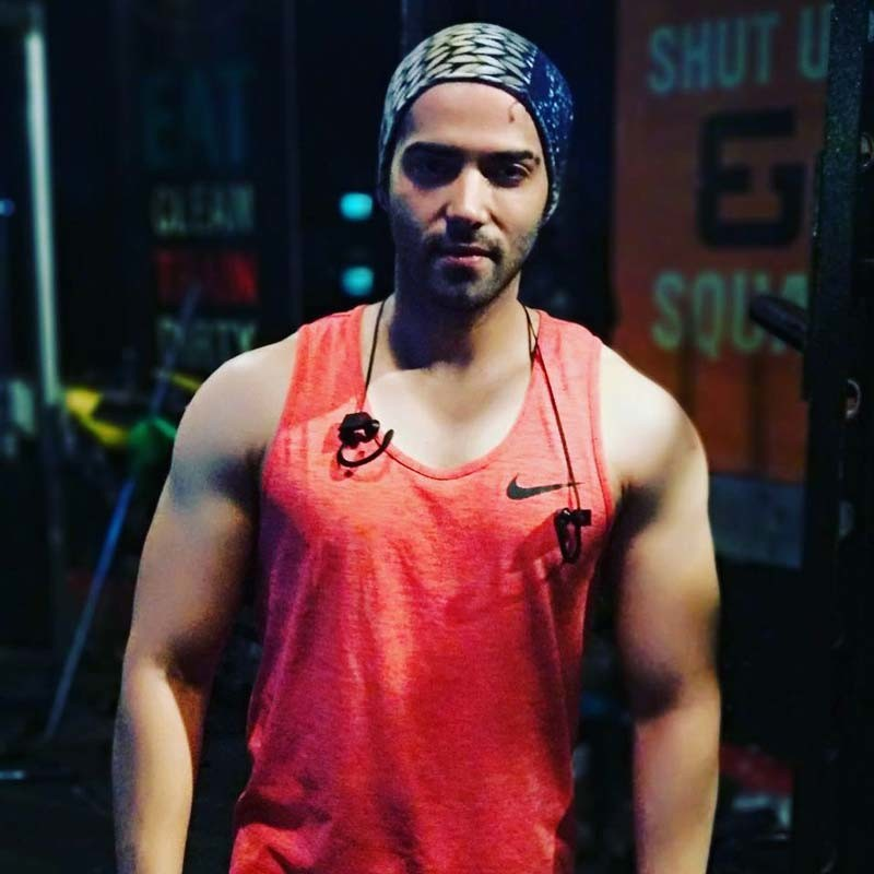 Kinshuk Mahajan poses after a workout session