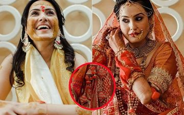 Kamya Panjabi Shares UNSEEN Pics From Wedding Festivities; Gives A Glimpse Into The Customised Details Of Her Lehenga