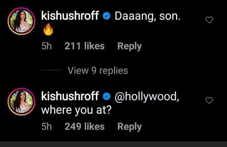 Krishna Shroffs comment