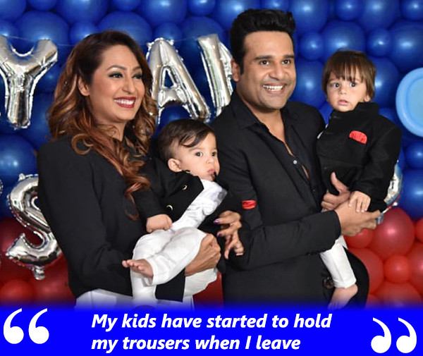 Krushna Abhishek And Kashmera Shah With Kids