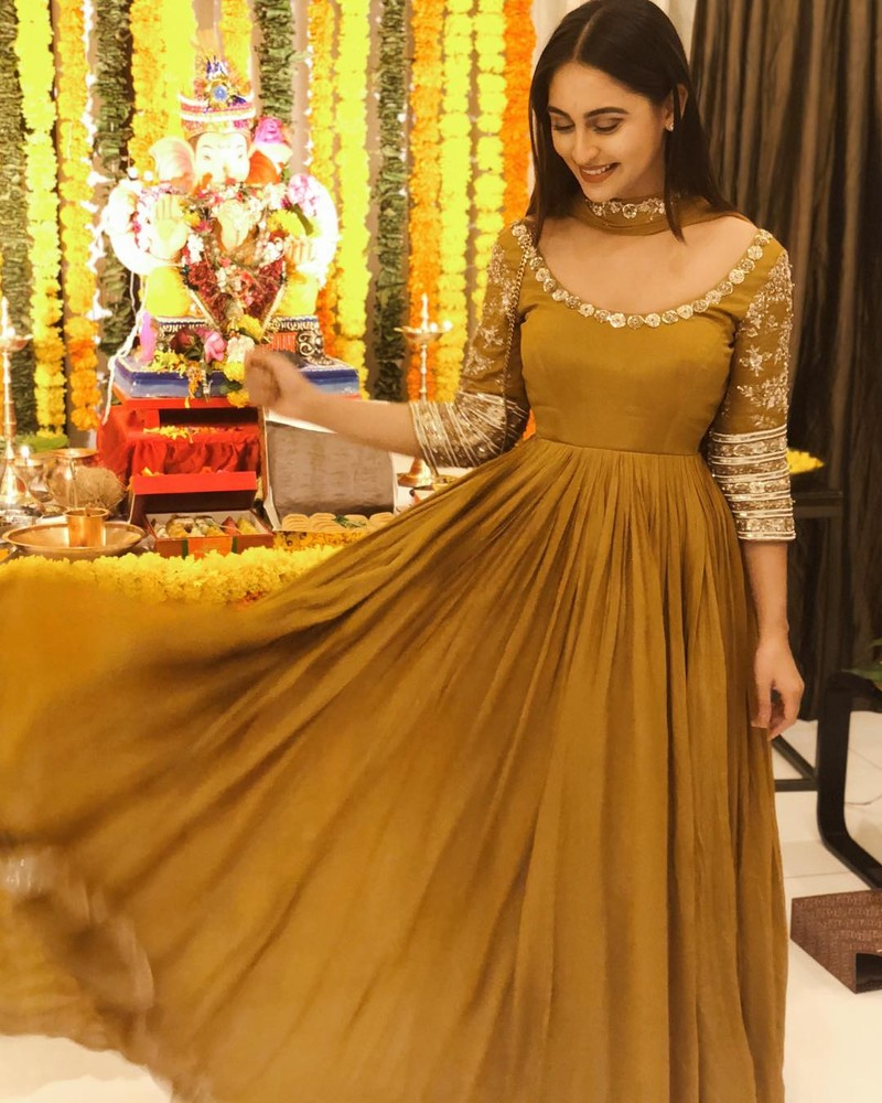 Krystle DSouza Poses In Her Brown Outfit