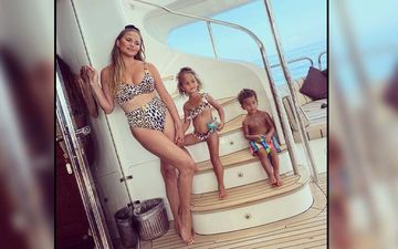 Chrissy Teigen Rocks her Swimwear; Her Latest Obsession Is Hot And Makes Her Look Sassy