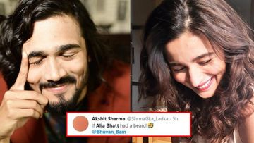 Bhuvan Bam Calls Himself Alia Bhatt's Male Version; Twitterati Can't Get Over The Uncanny Resemblance