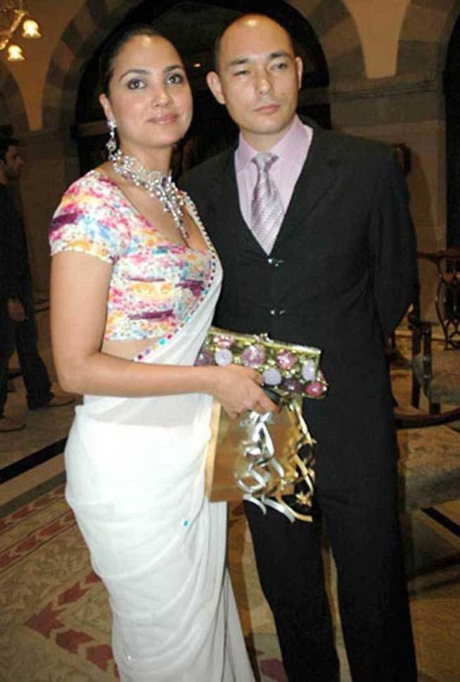 Lara Dutta With Kelly Dorjie